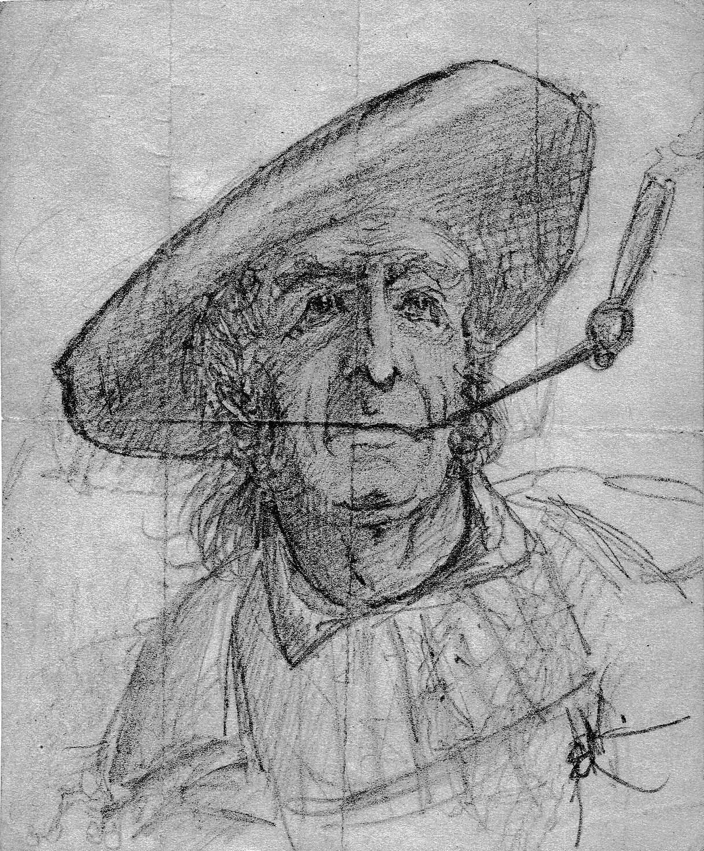 Bild: Zeichnung aus der Zeit als Lithographenlehrling