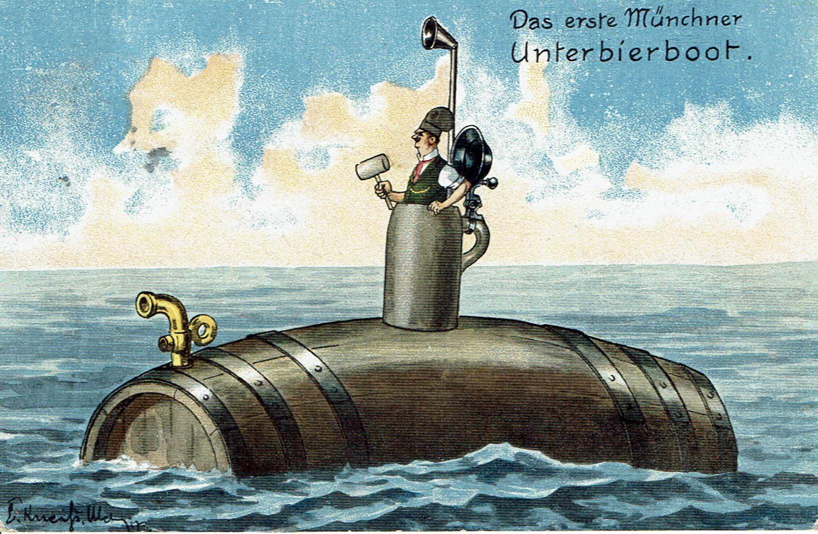 Das erste Münchner Unterbierboot