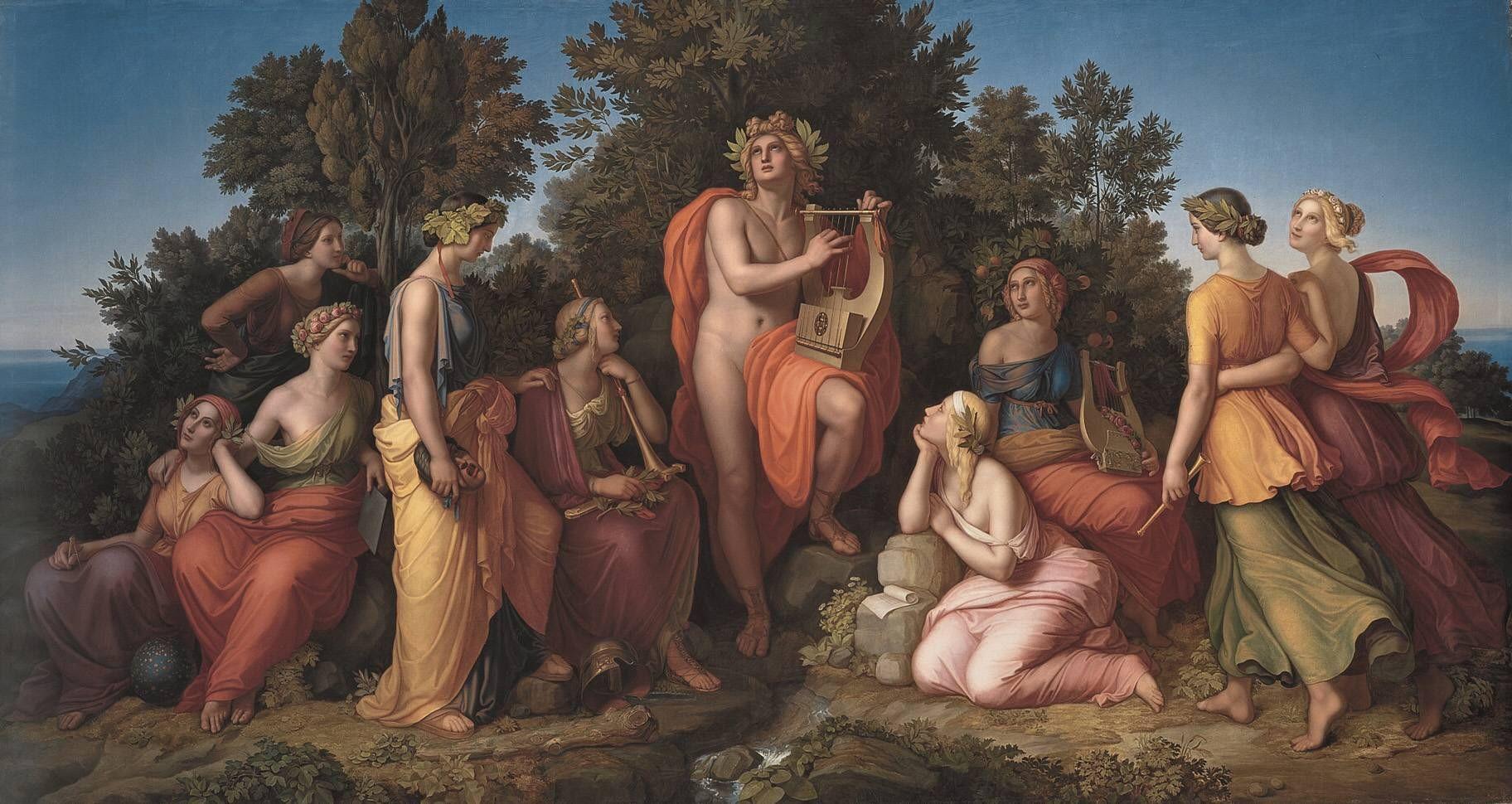 Heinrich Maria v. Hess: Apoll und die neun Musen