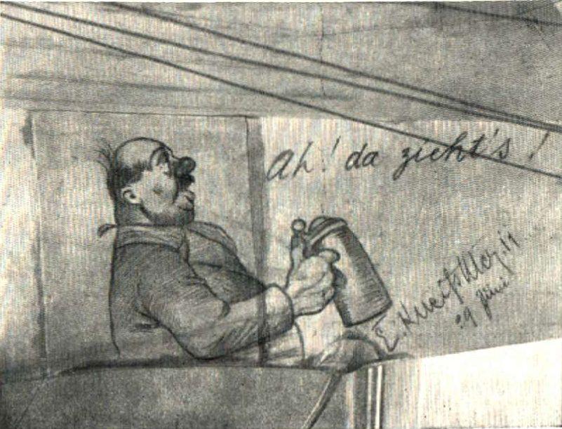 """Hirths Kathreiner-Flug München -Berlin 1911 """"ah! da zieht's!"""""""