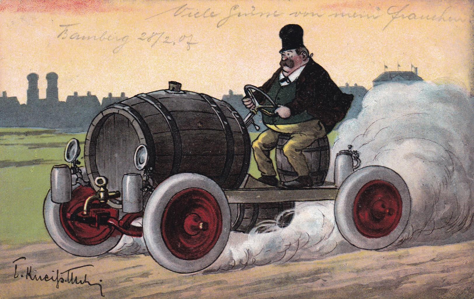 Das erste Münchner Biermobil