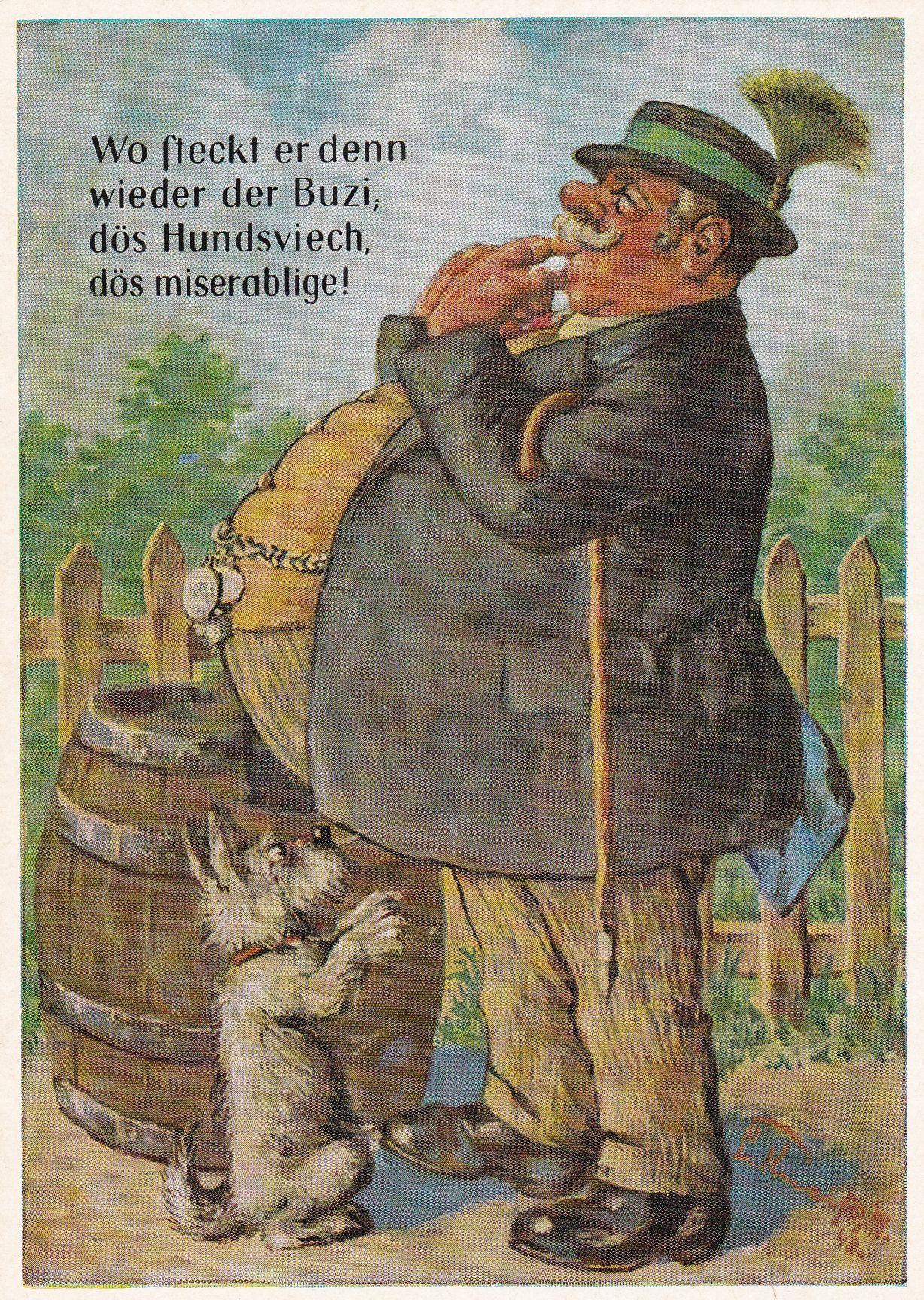 """Bild: Der """"Buzi"""" auf einer Postkarte von 1943 oder 1948"""