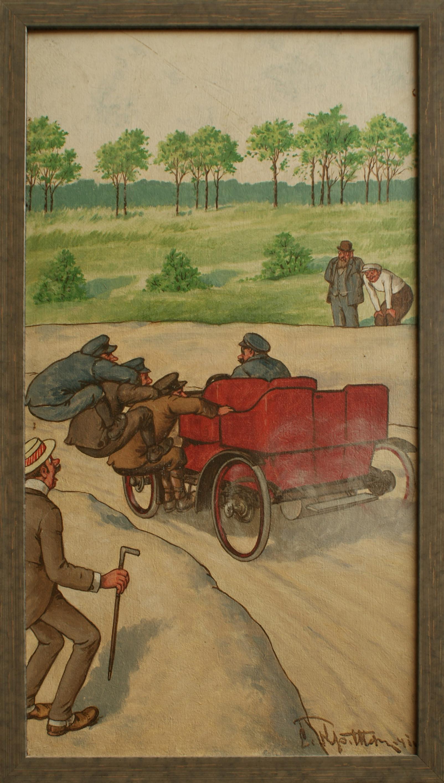 Reminiszenz an das erste Bahnrennen für Automobile in Frankfurt 1903