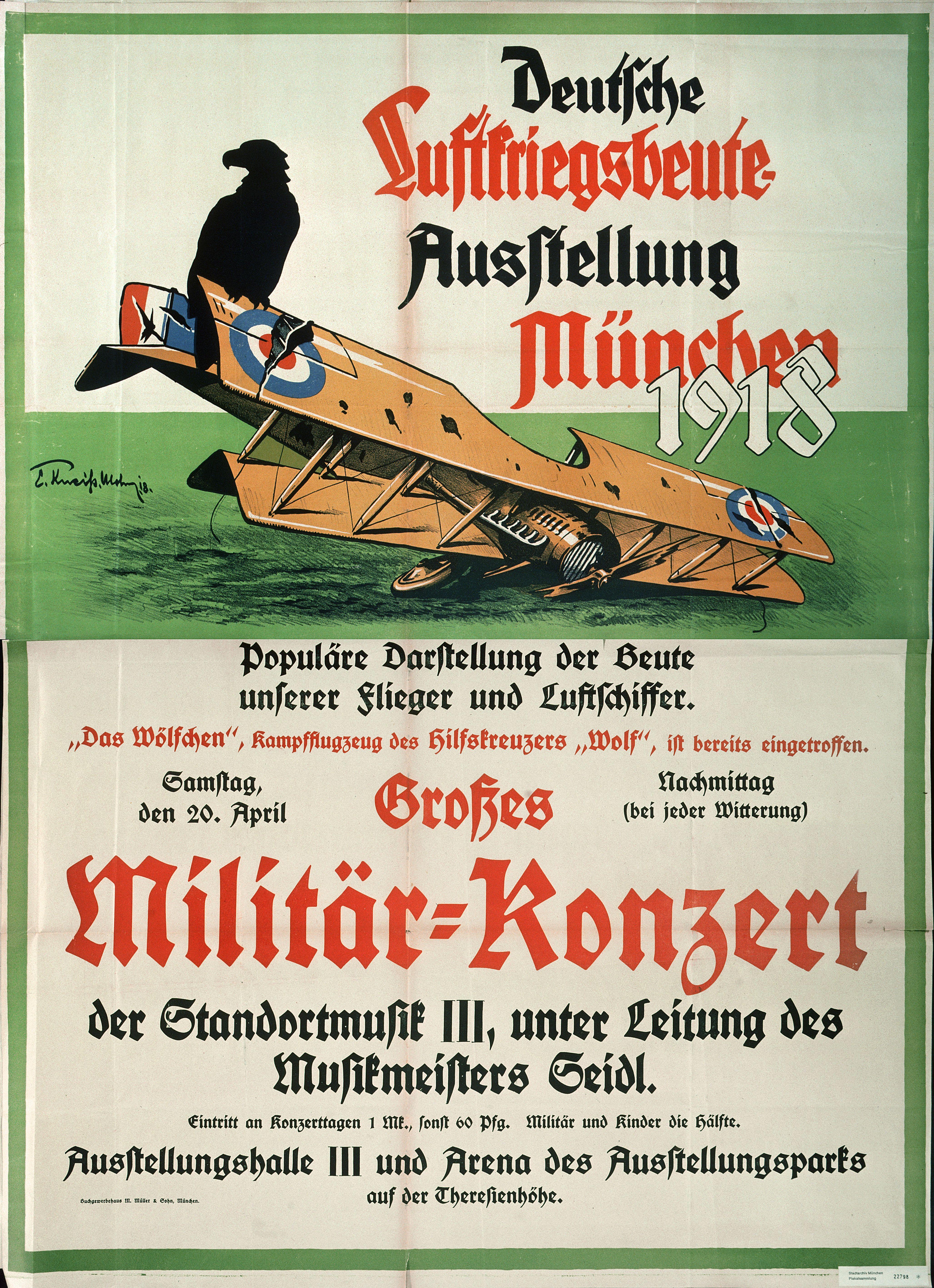 Deutsche Luftkriegsbeuteausstellung München 1918