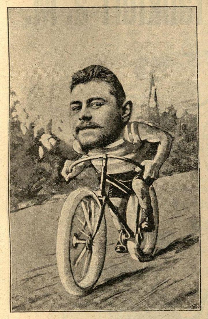 Richard Braunbeck auf einem Juxbild von 1891