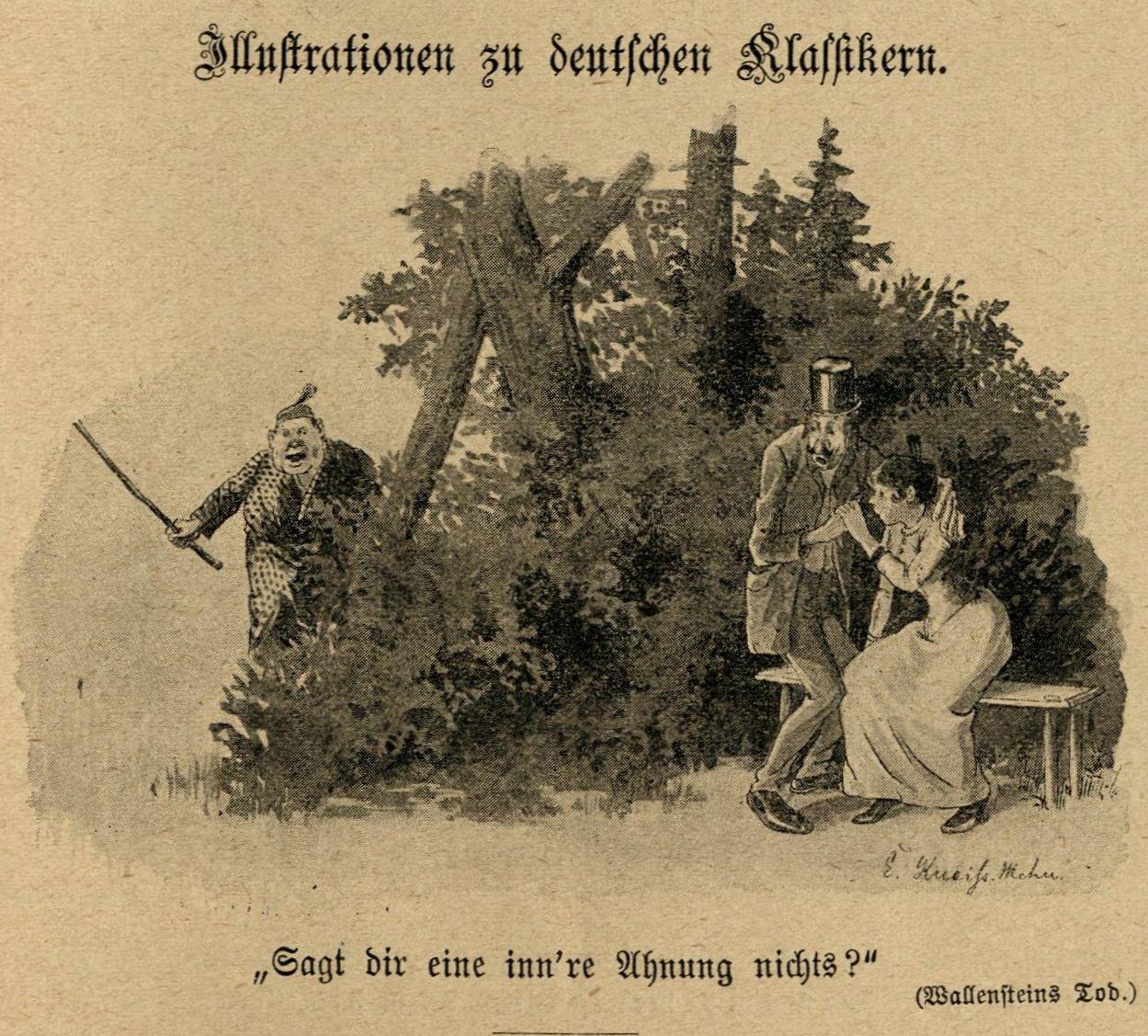 """""""Sagt dir eine inn're Ahnung nichts?"""" (Wallensteins Tod)"""