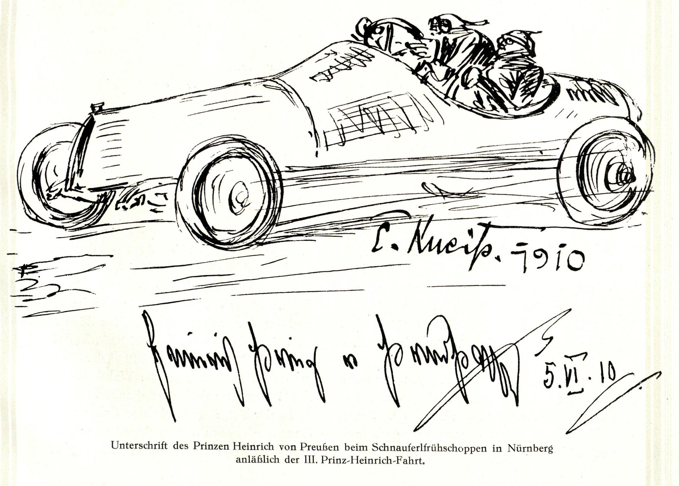 Bild aus der ASC-Festschrift mit Unterschrift des Prinz Heinrich v. Preußen
