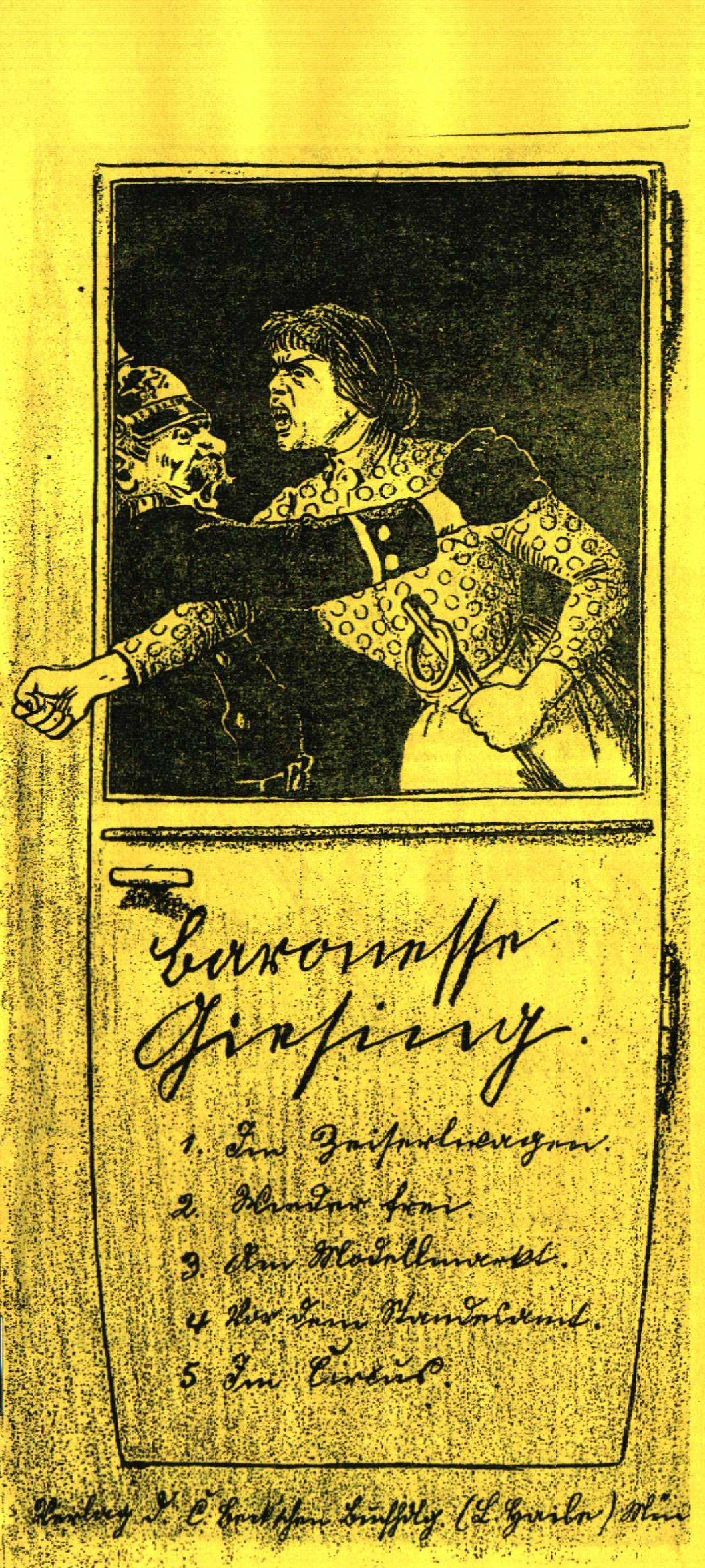 """Bild: Titel der """"Baronesse Giesing"""""""