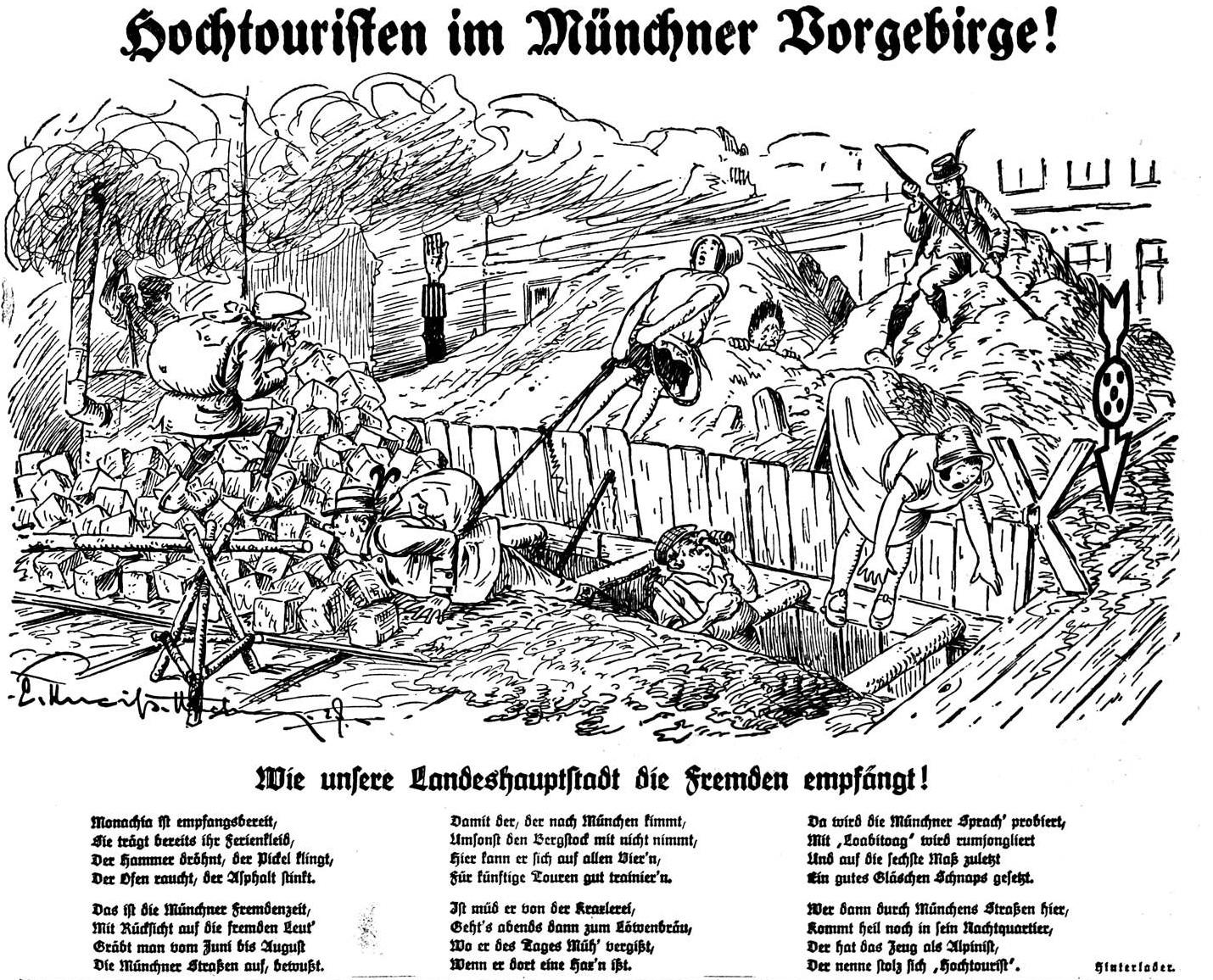 Hochtouristen im Münchner Vorgebirge!