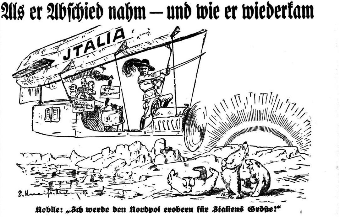 Umberto Nobile startete am 23. Mai 1928 zu seiner zweiten Nordpolexpedition