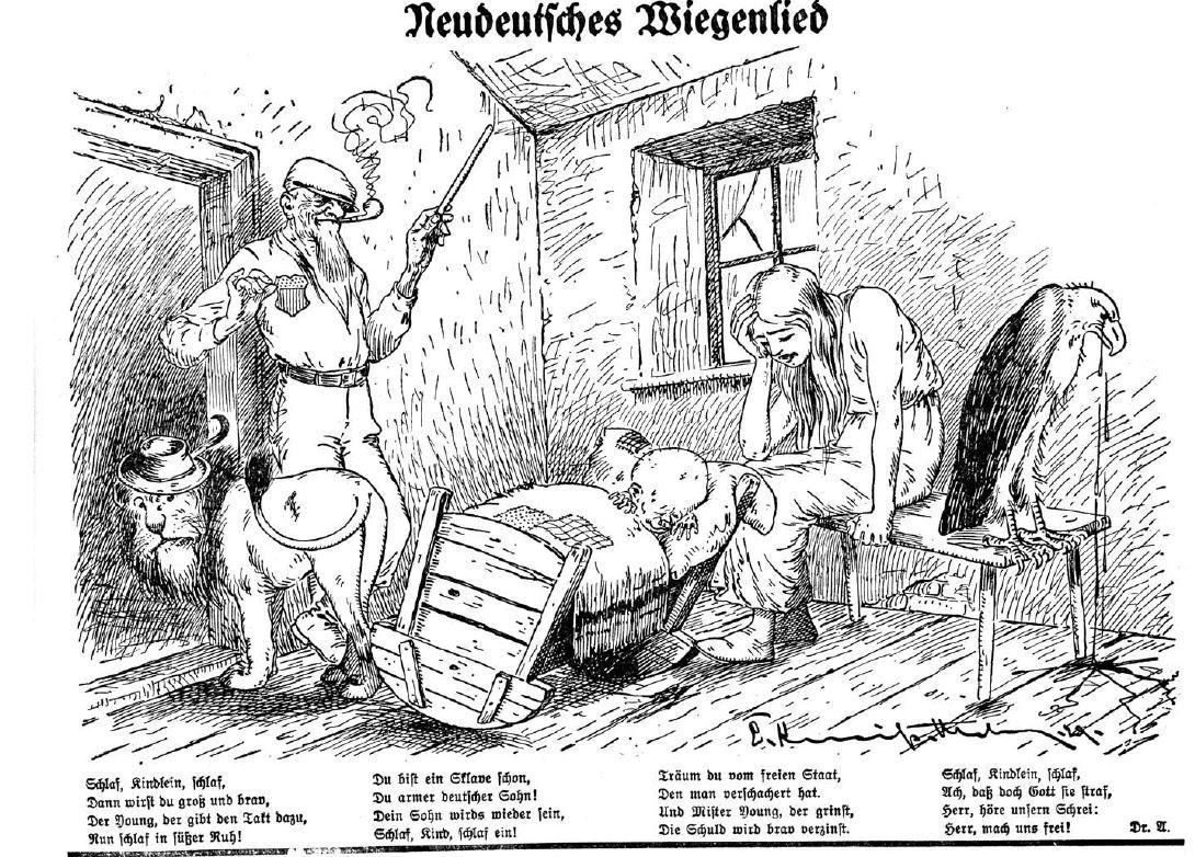 Löwe und Adler sind beide traurig: der Young-Plan war im September 1929 fertig