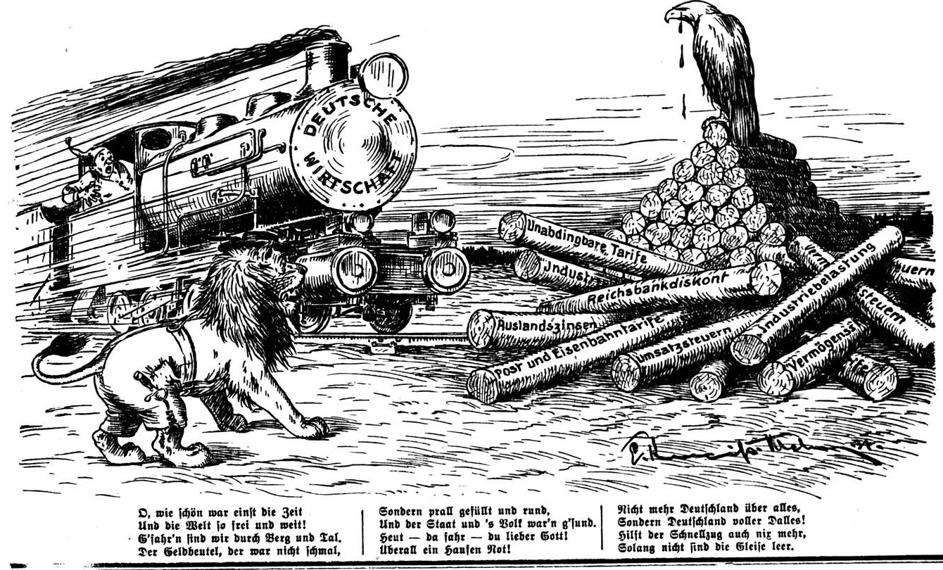 Löwe und Adler jammern über die Hindernisse für die Wirtschaftslokomotive