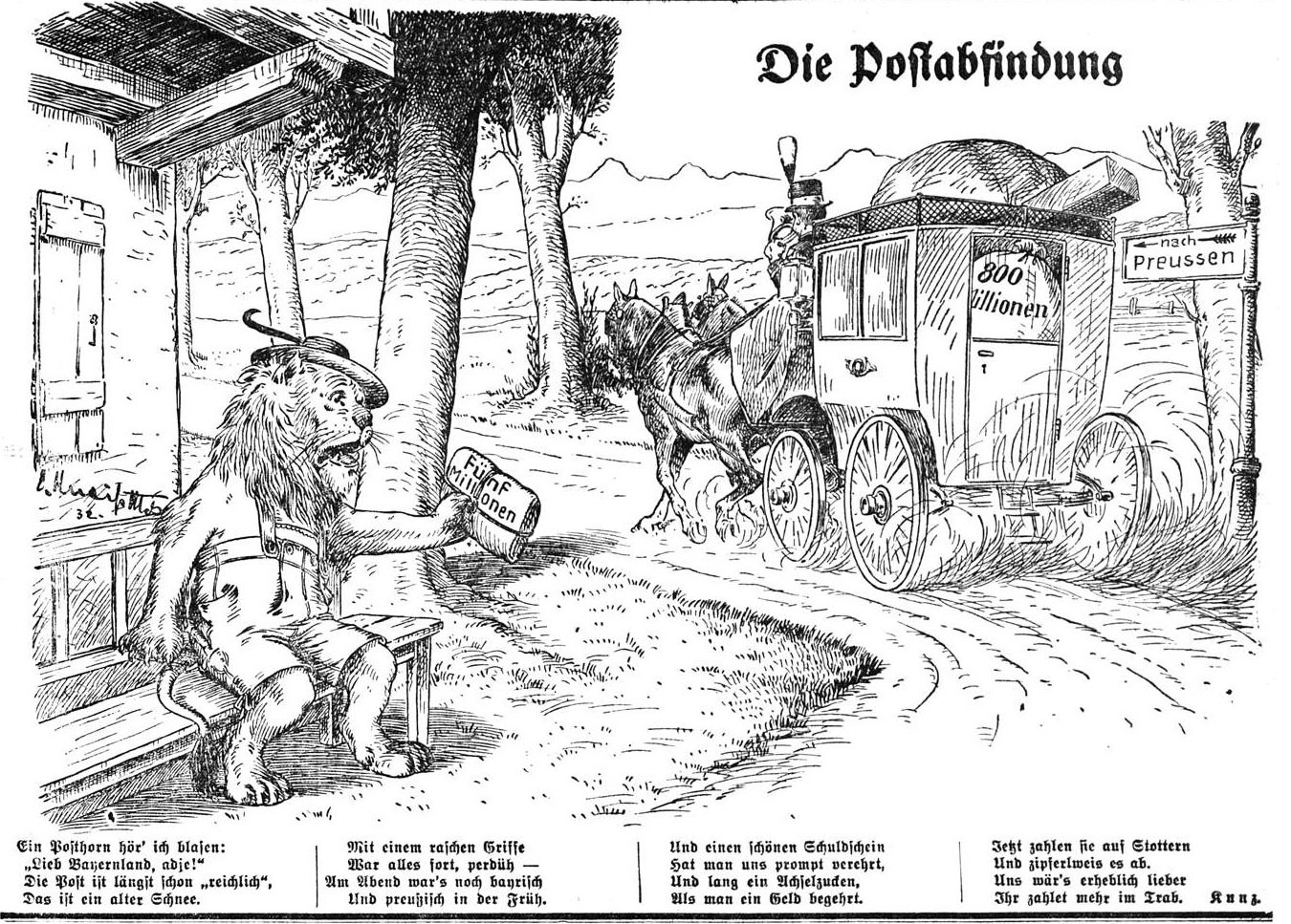 April 1932: Die Postabfindung