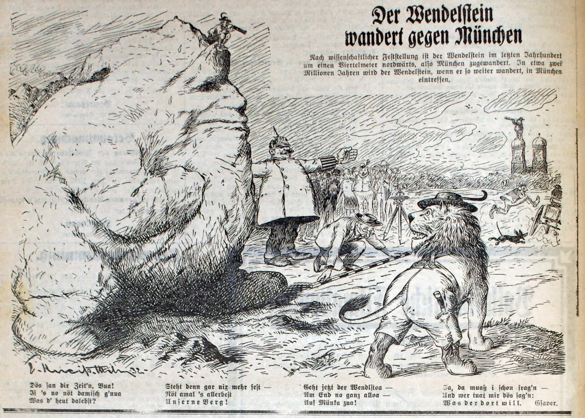 Bild: Der Wendelstein wandert gegen München