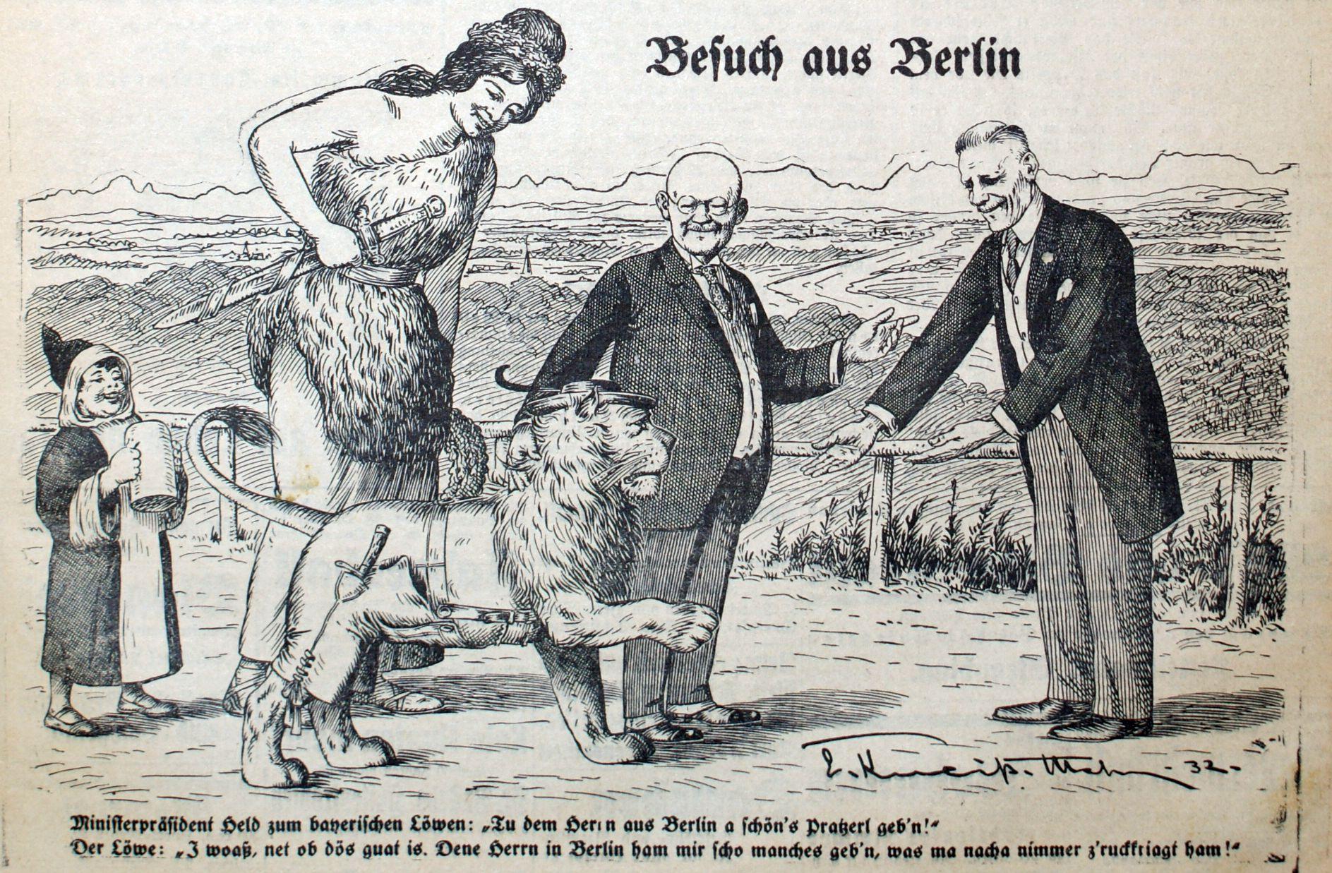 Reichskanzler von Papen im Oktober 1932 zu Besuch in München