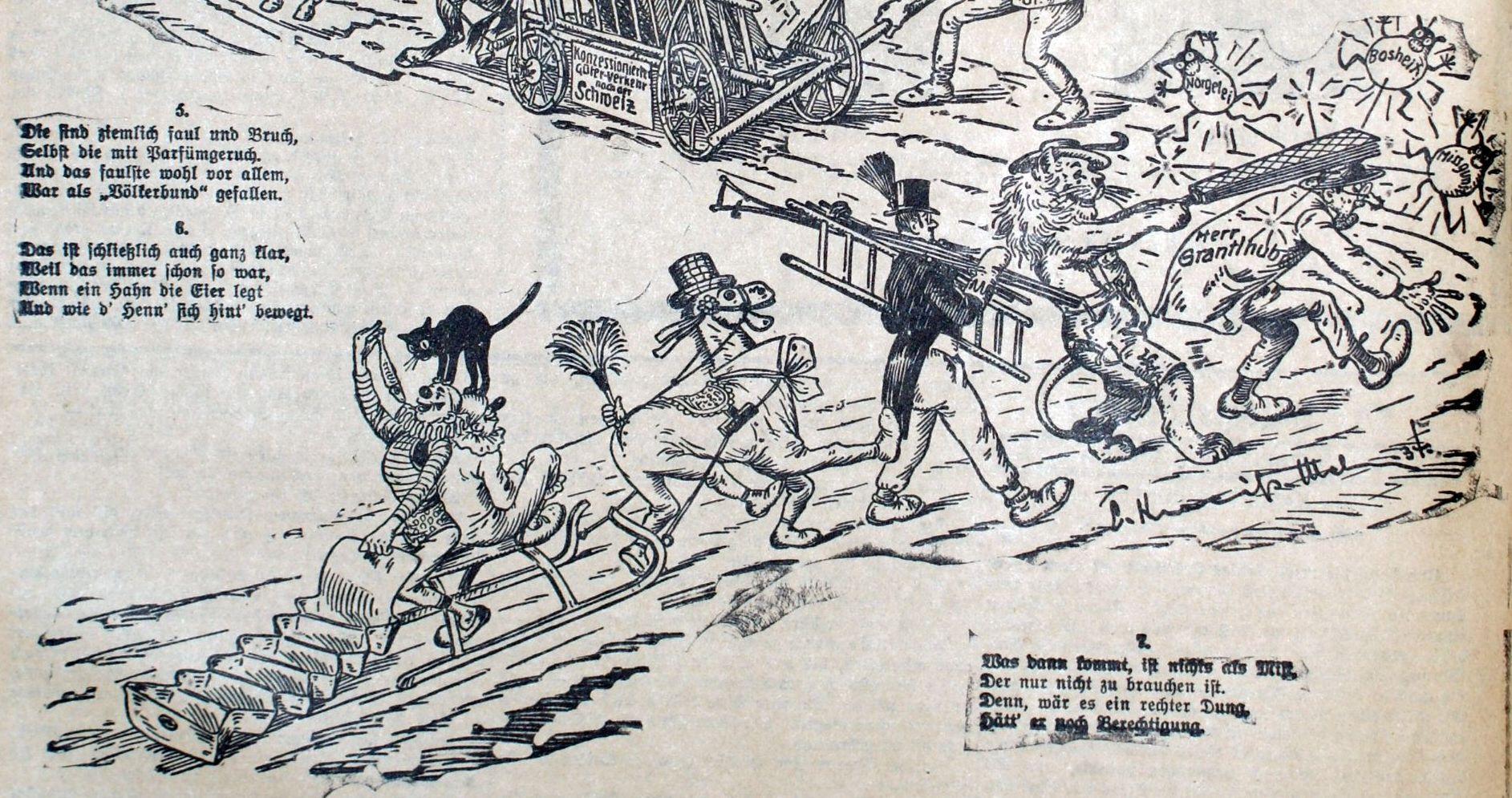 Faschingszug 1934/III Gegen die Miesmacher