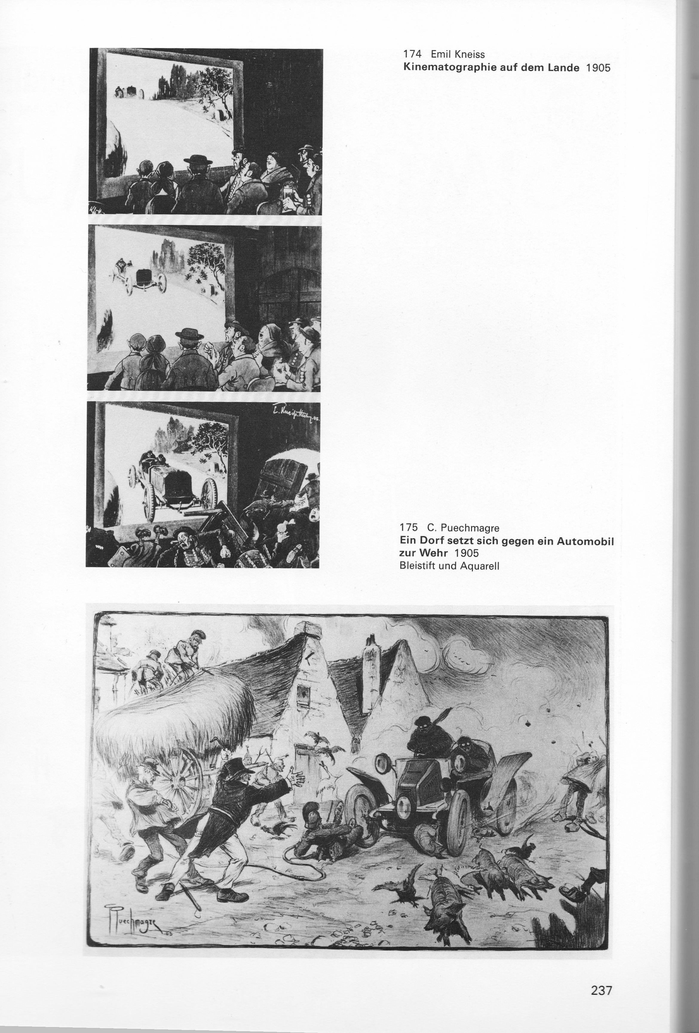 """Seite aus """"Das Automobil in der Kunst"""""""