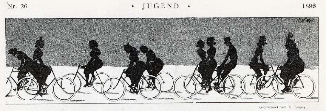 Bild: Schattenrisse von Radfahrern