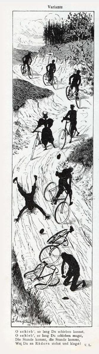 """Radfahrersturz an einer """"Einhemmstelle"""""""