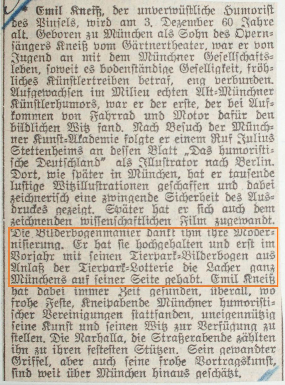 Münchener Nachrichten: Kneiß zum 60. Geburtstag