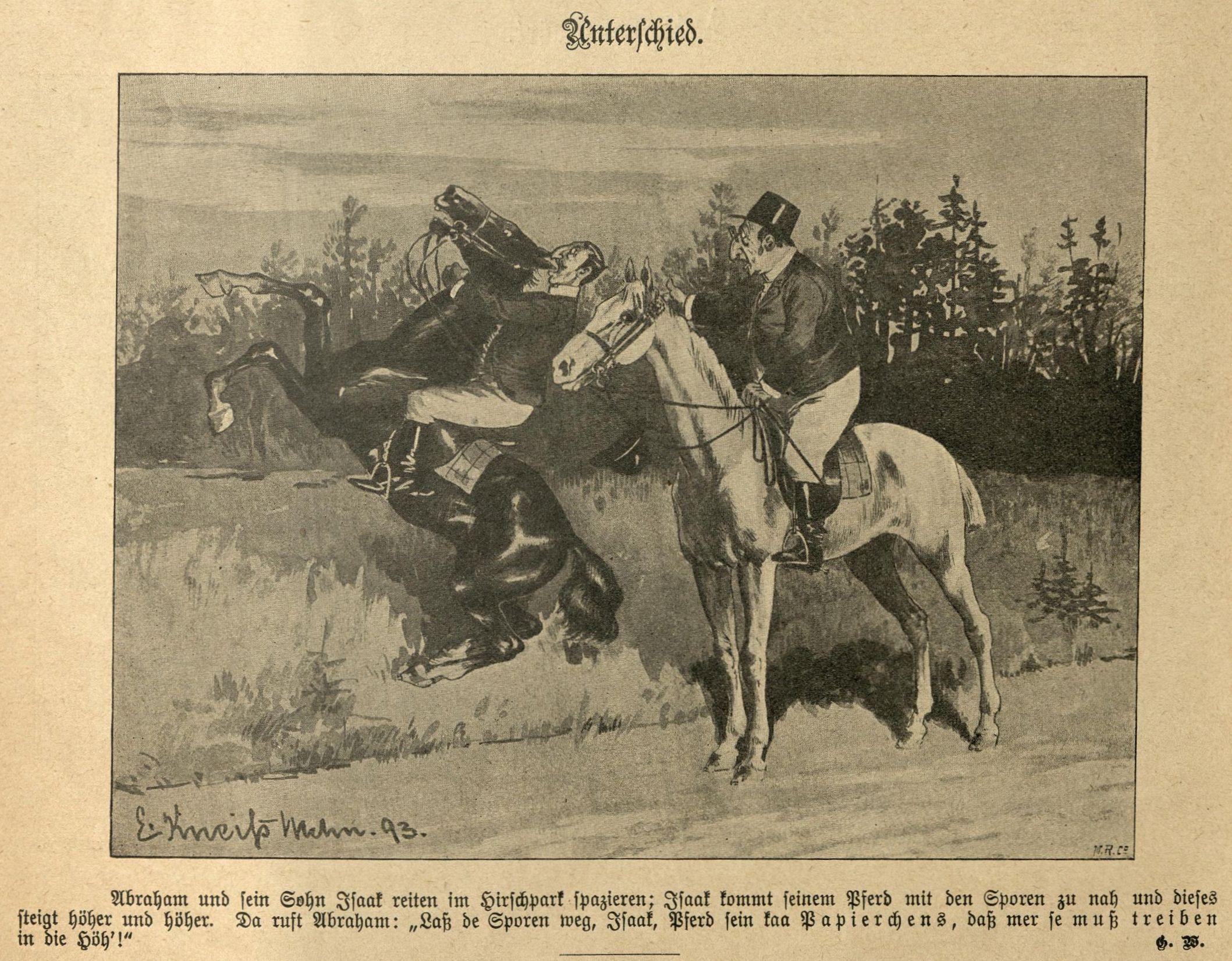 Pferd sein koa Papierchens, daß mer se muß treiben in die Höh!