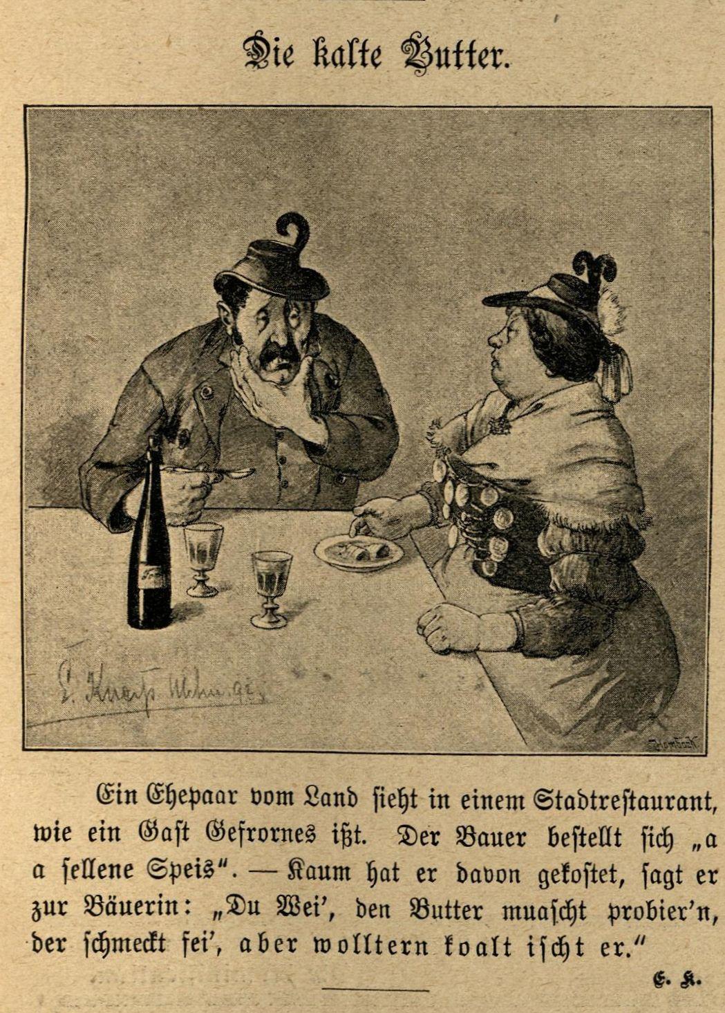 """Ein Ehepaar vom Land bestellt sich im Restaurant """"Gefrorenes"""""""