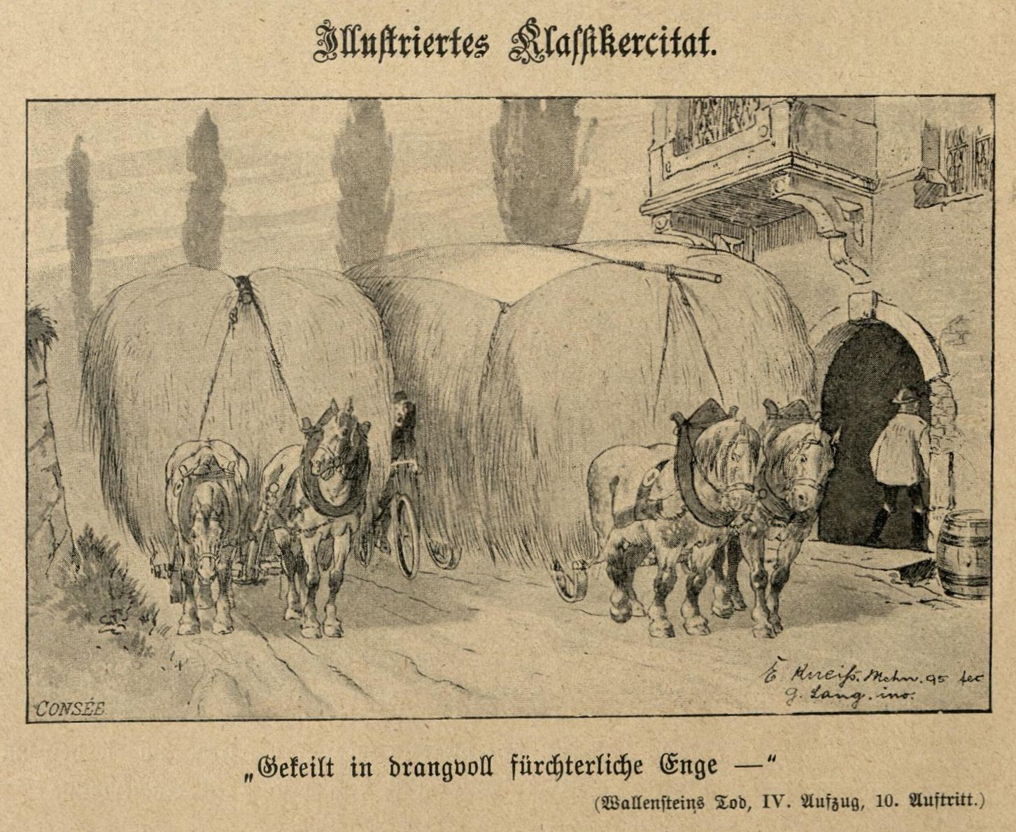 Gekeilt in drangvoll fürchterliche Enge ... (Wallensteins Tod)