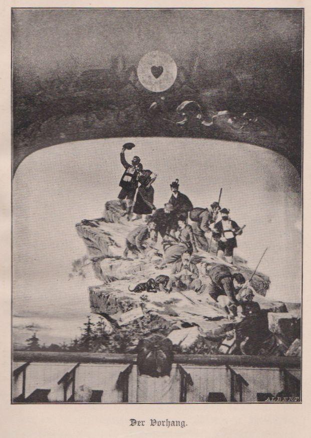 Der Bühnenvorhang des Schlierseer Bauerntheaters von Emil Kneiß