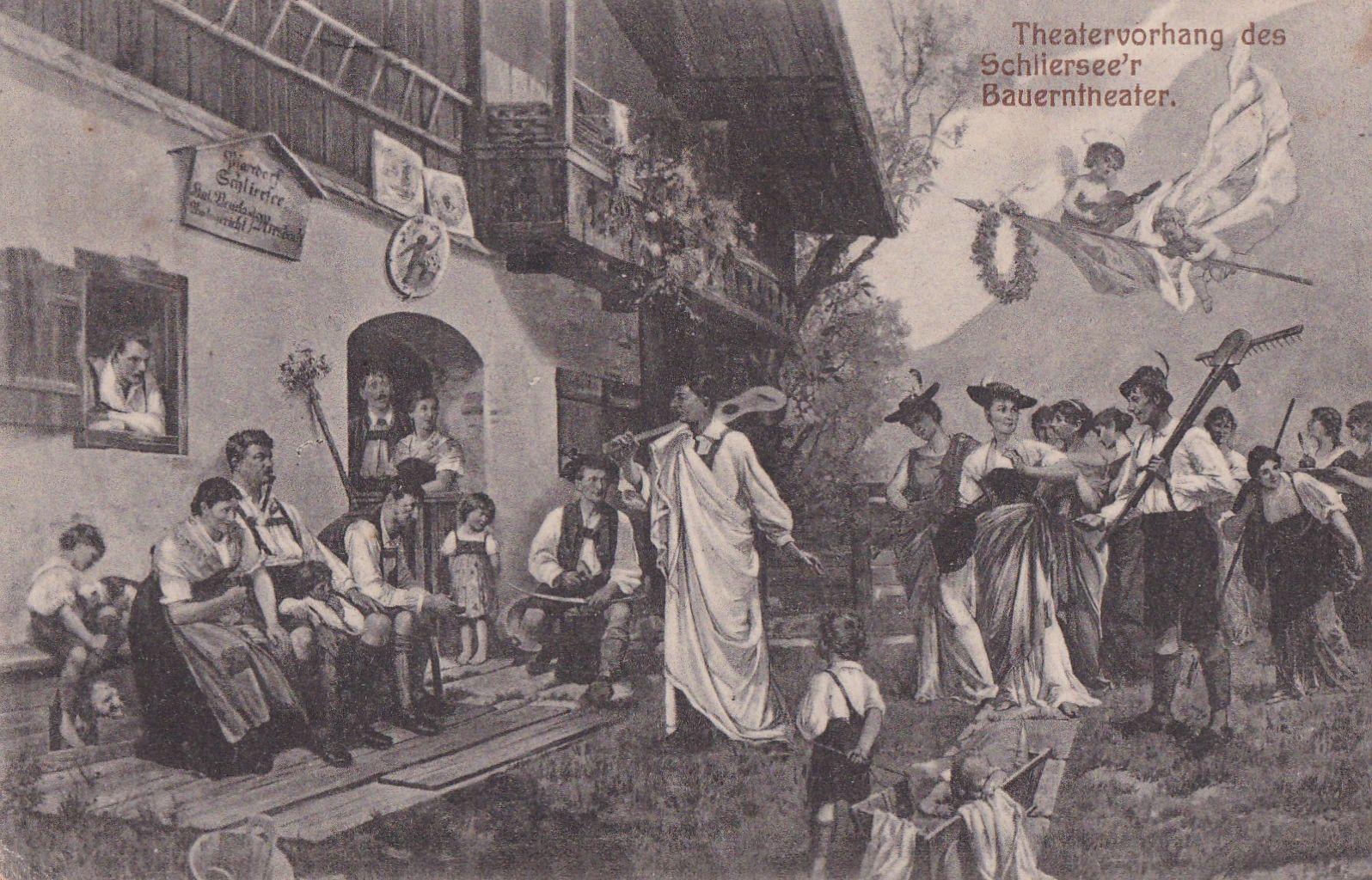 Der zweite Vorhang des Bauerntheaters nach dem Entwurf von Kunz Meyer-Waldeck
