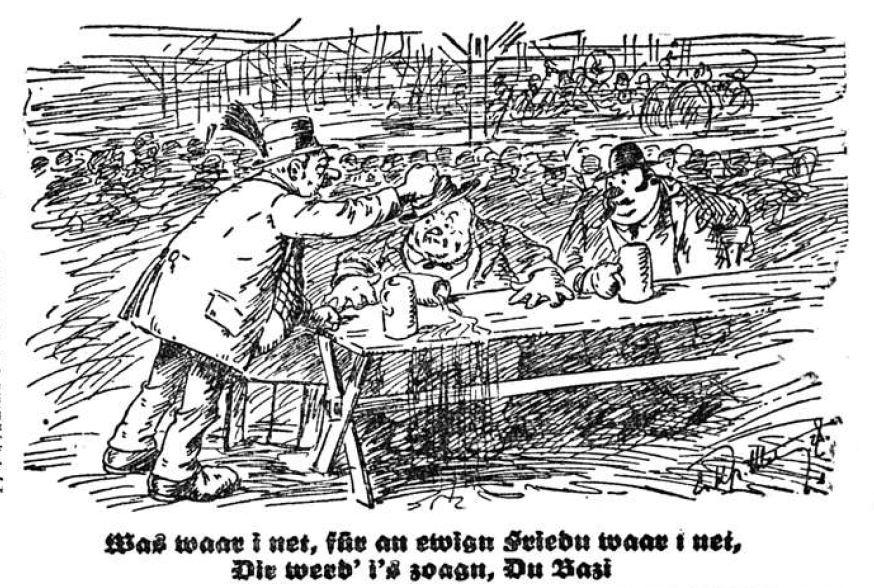 Bild: Was, für an ewign Friedn waar i net?