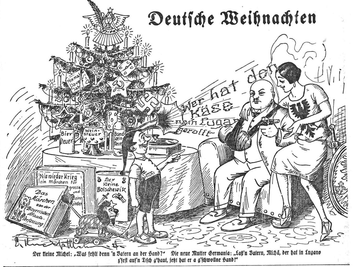 Bild: Deutsche Weihnachten (Stresemann mit verbundener Hand)