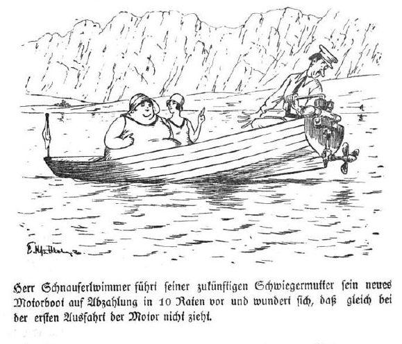 Bild Herr Schnauferlwimmers Motorboot zieht nicht