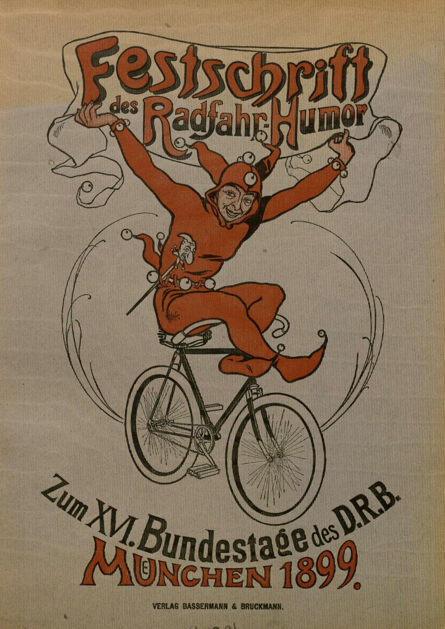 Titelseite der Festschrift für den 7. Bundestag des Deutschen Radfahrer-Bundes