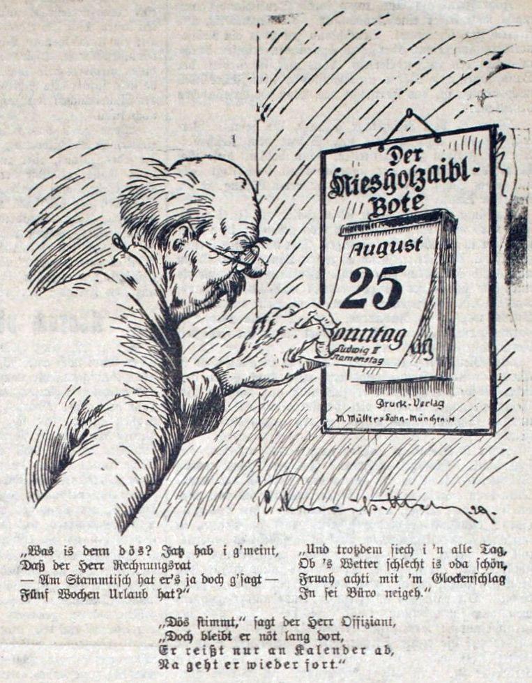 Bild Der Herr Rechnungsrat reißt nur den Kalender ab
