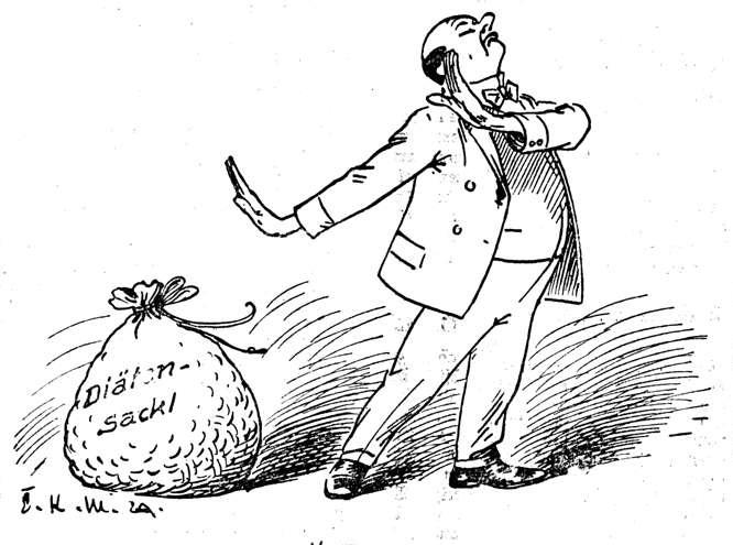 Bild: Ein Abgeordneter verzichtet auf Diäten