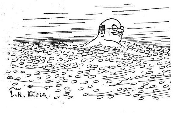 Bild: Der Finanzminister schwimmt in Gold