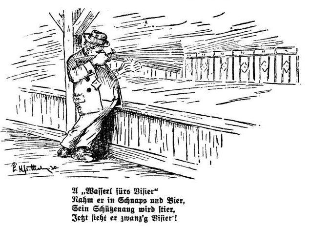 Bild: Schütze sieht nach Schnapsgenuss zwanzig Visiere