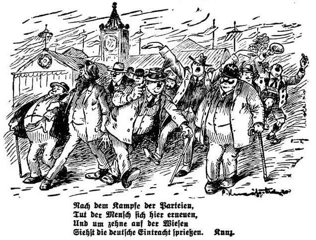 Bild: Auf der Wiesen siehst die deutsche Eintracht sprießen.