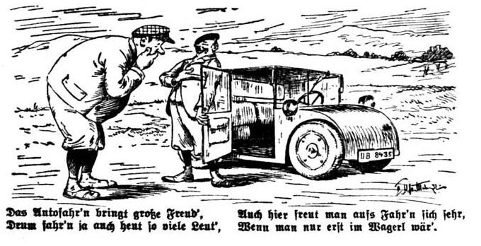 Bild Großer Mann passt nicht in kleines Auto!