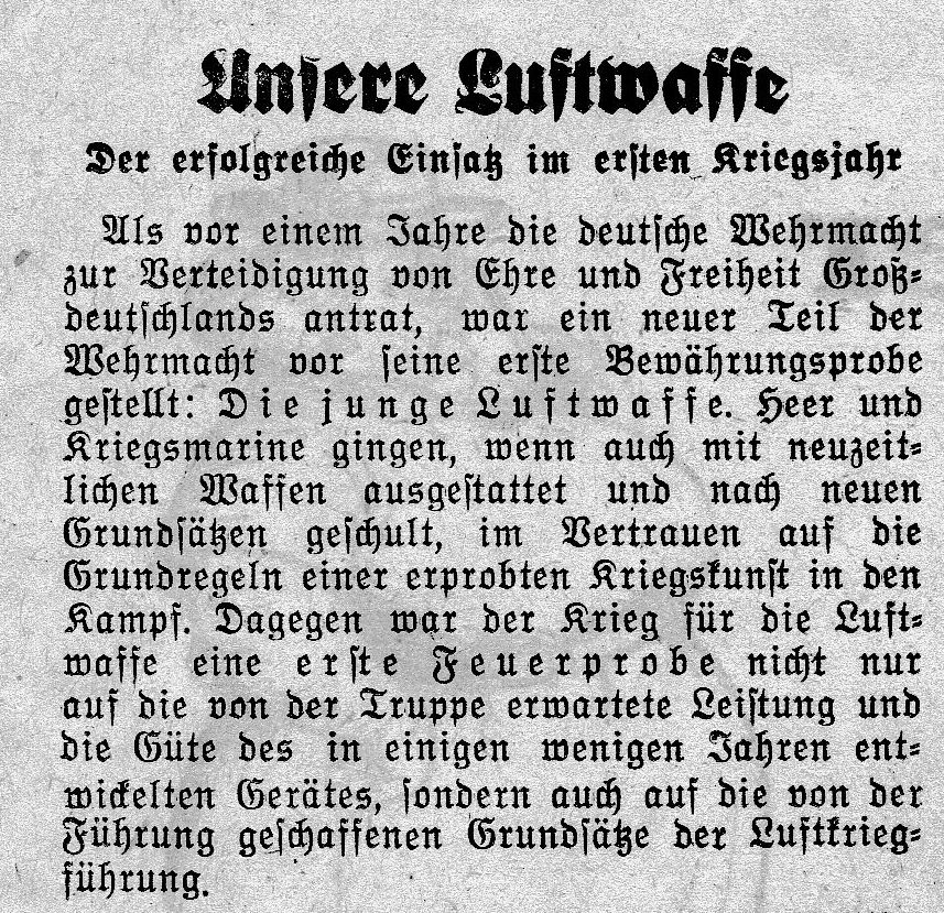 """""""Unsere Luftwaffe"""""""