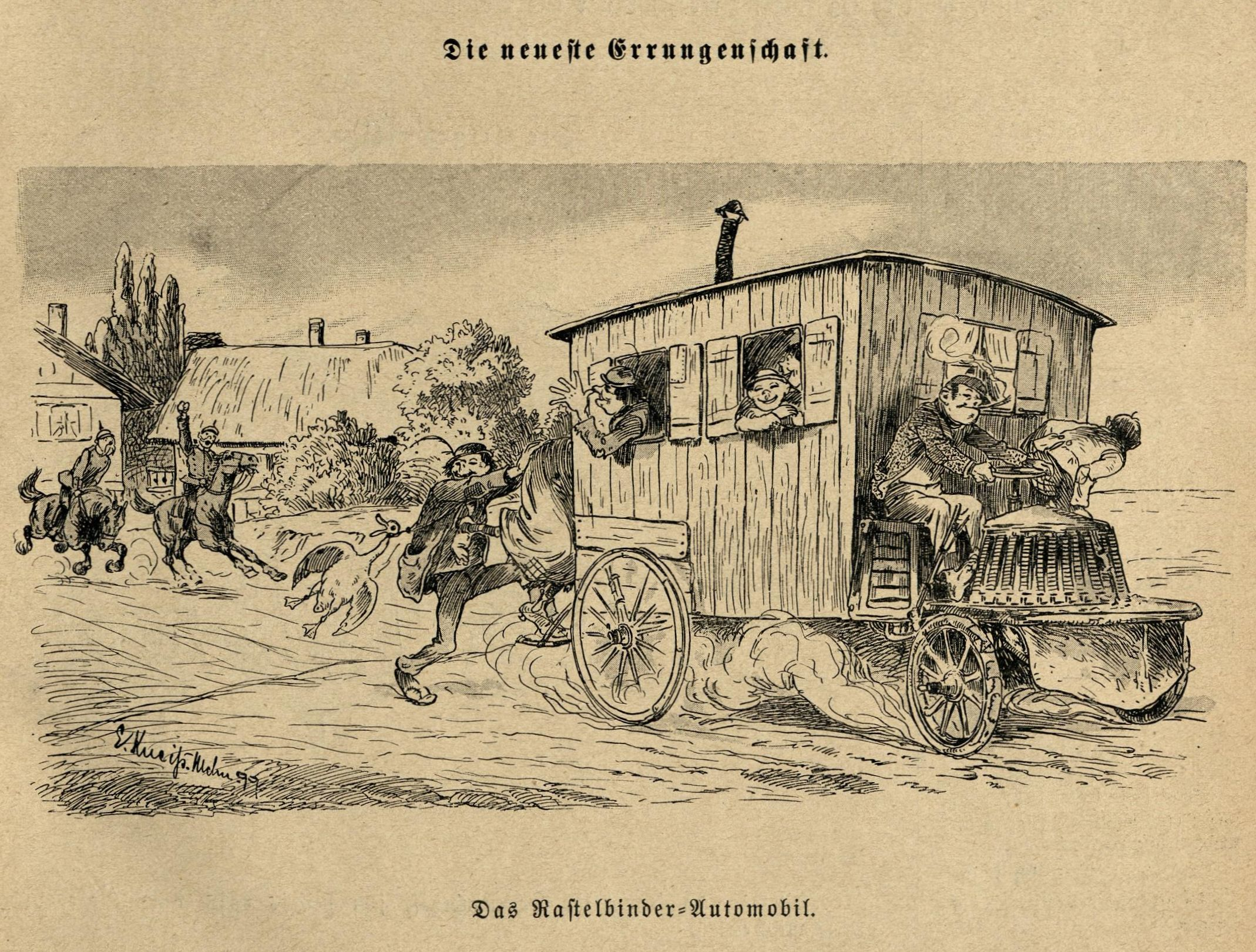 Bild: Das Rastelbinder-Automobil