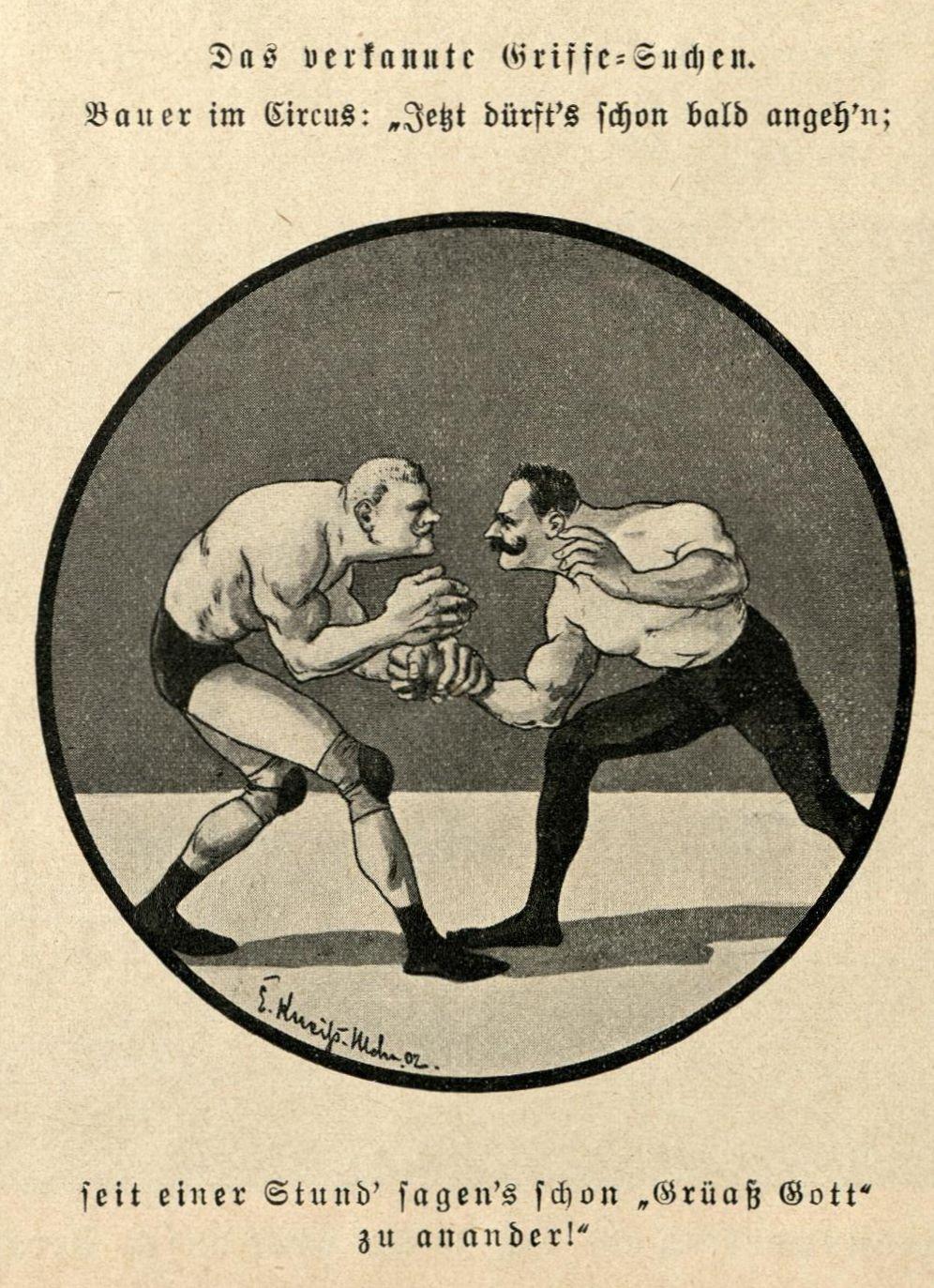 Bild: Zwei Ringer; Das verkannte Griffesuchen