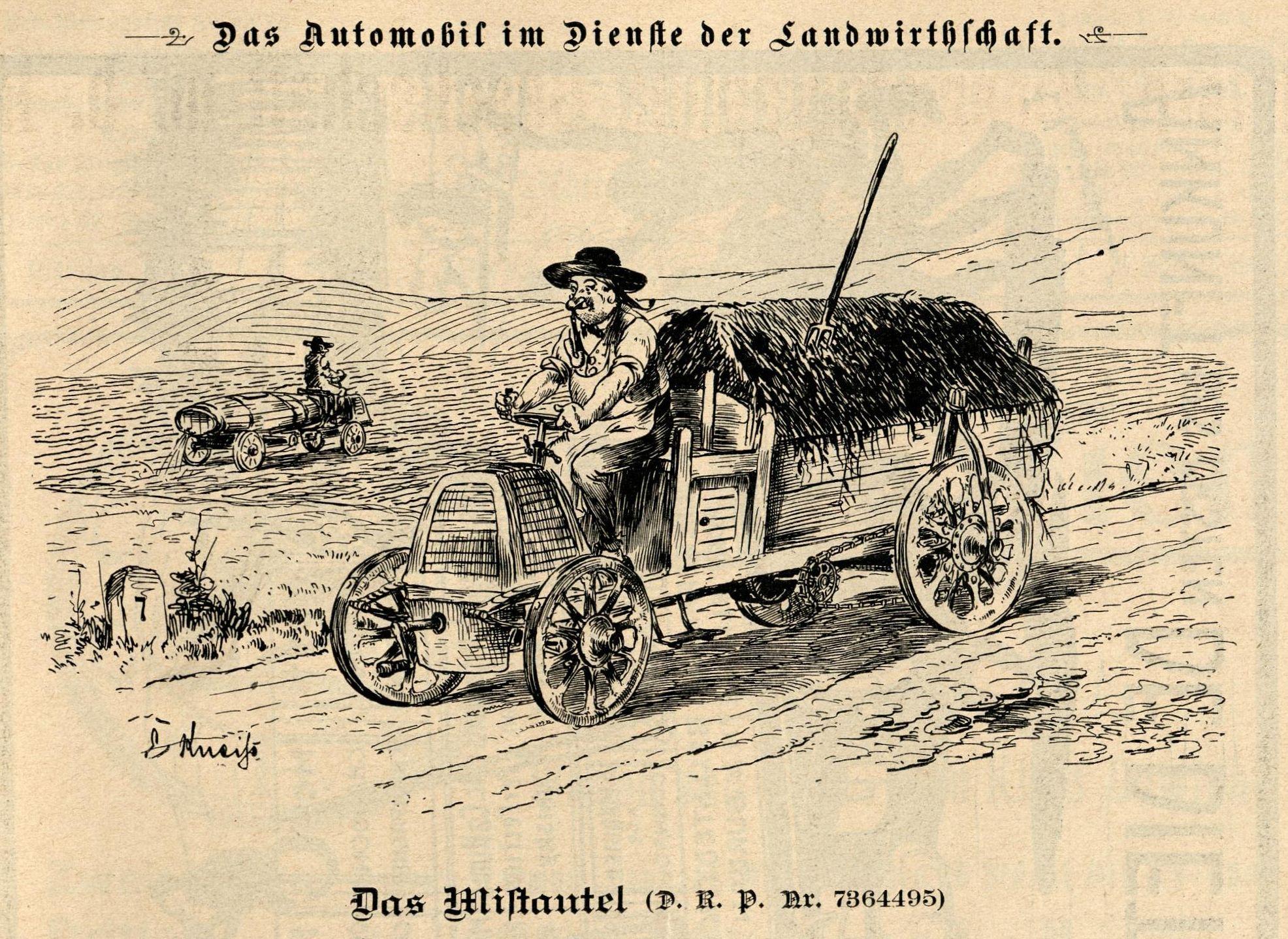 Bild: Das Automobil im Dienst der Landwirtschaft