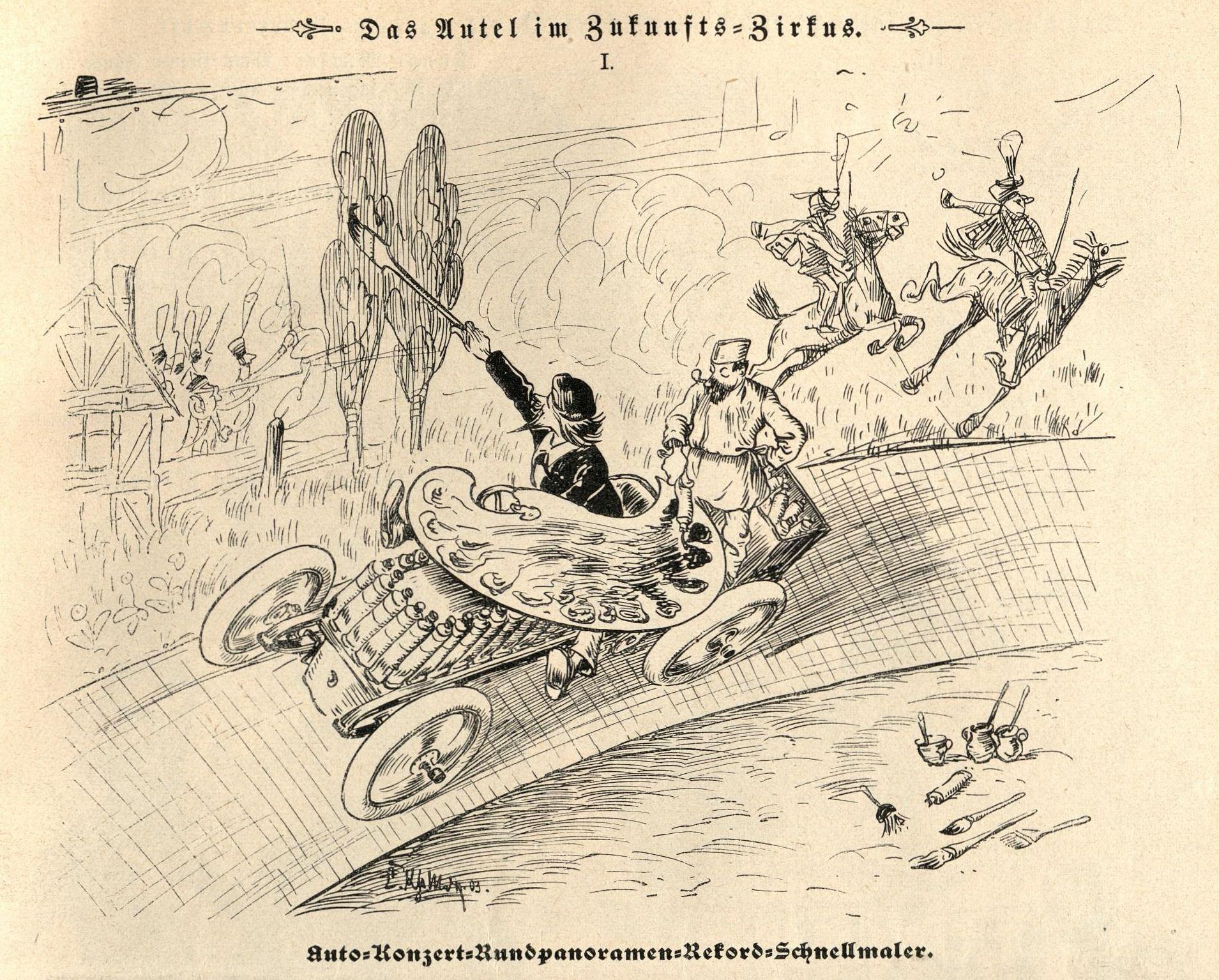 Bild: Auto-Konzert-Rundpanoramen-Rekord-Schnellmaler