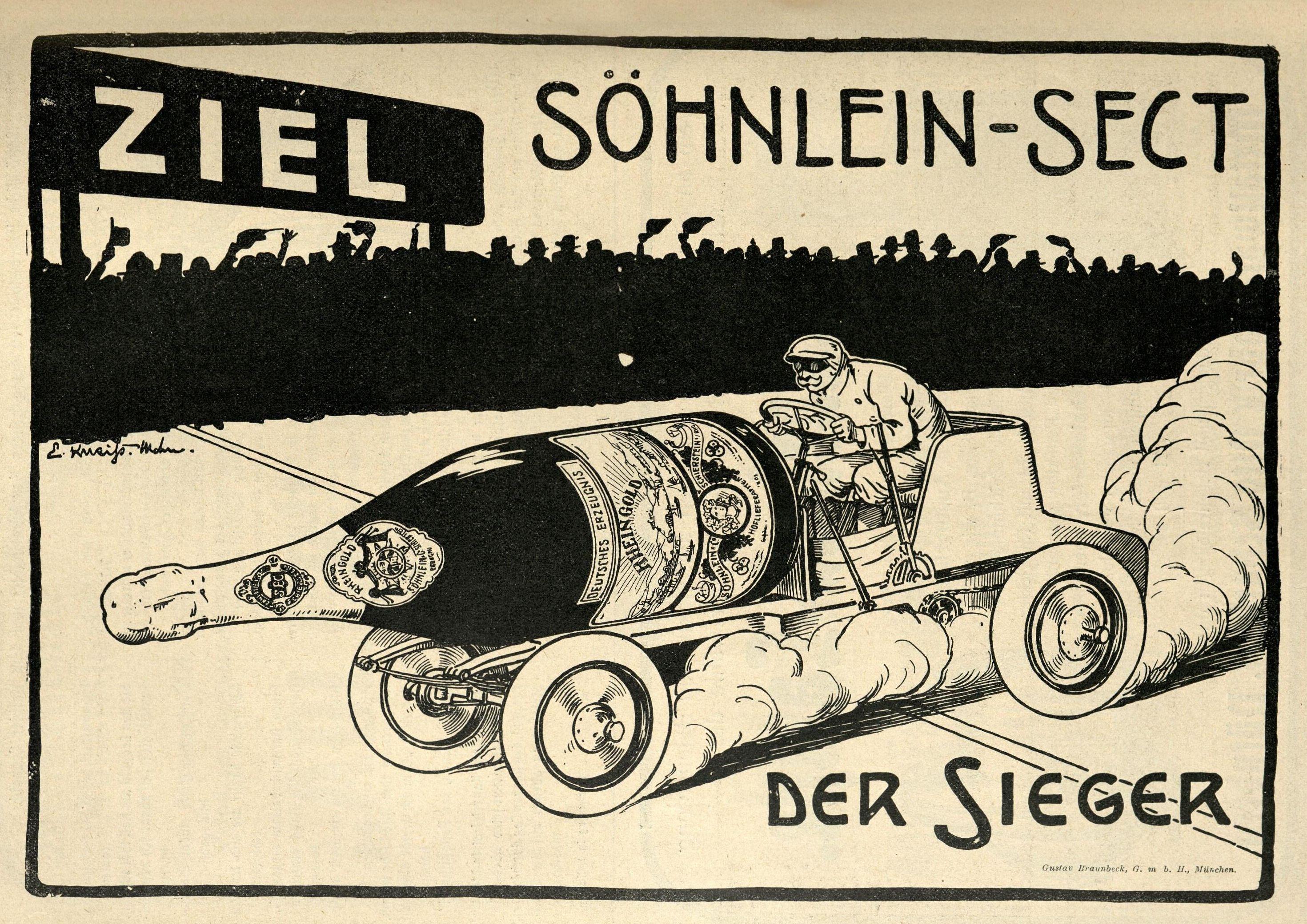 Reklame für Söhnlein-Sect