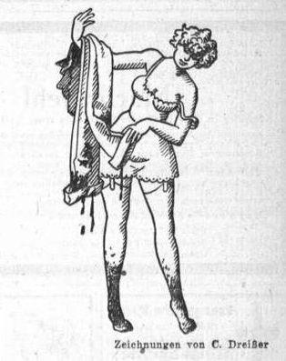 Bild: Dorothee reinigt ihre Hosen