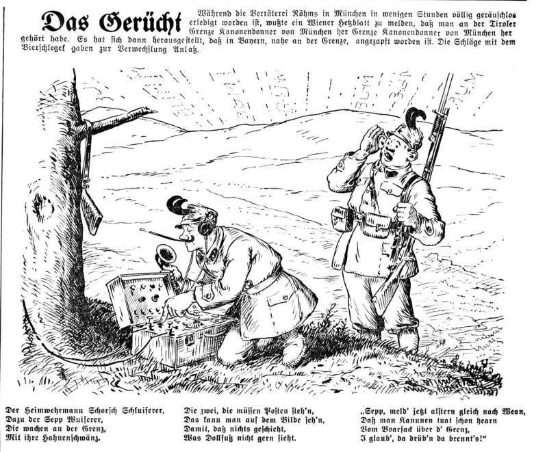 Bild: Das Gerücht, beim 'Röhmputsch' habe es Kanonendonner gegeben