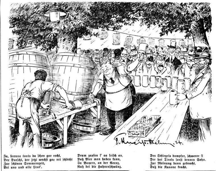 Bild: Der Kanonendonner sei in Wirklichkeit ein Anzapfen von Bierfässern gewesen