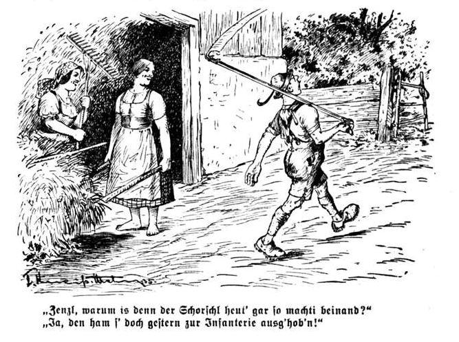 Bild: Musterungszeit Schorschl wurde zur Infanterie ausgehoben