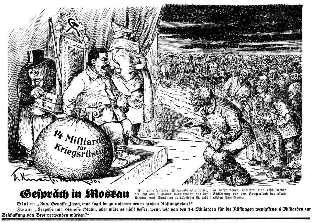 """Bild: 1936 Gespräch in Moskau zwischen Stalin und """"Iwan"""""""